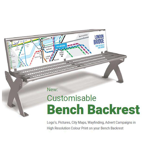 customisable backrest, city map