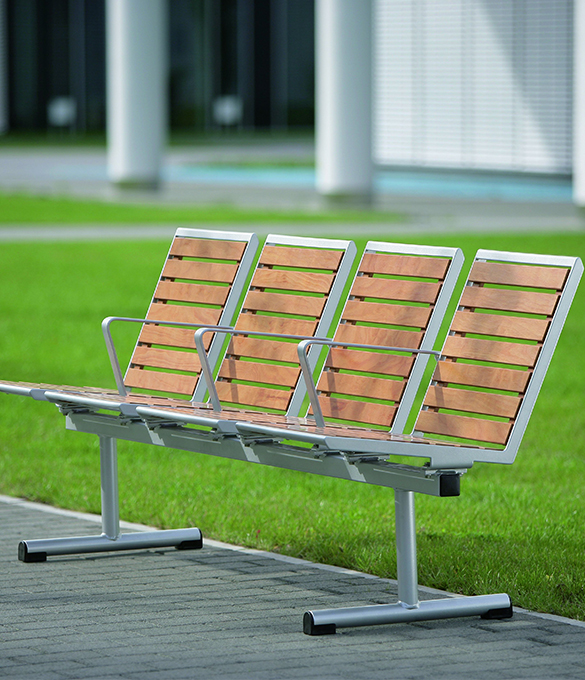 topsit pagwood metal and wood divided bench