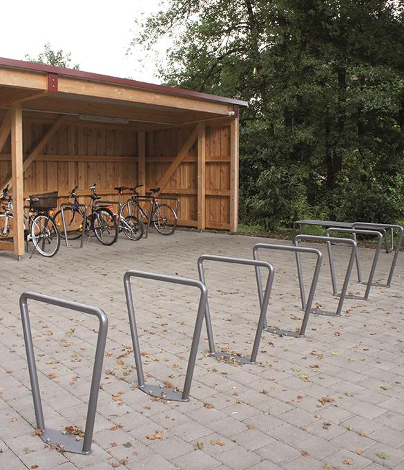 metal bike parking stand